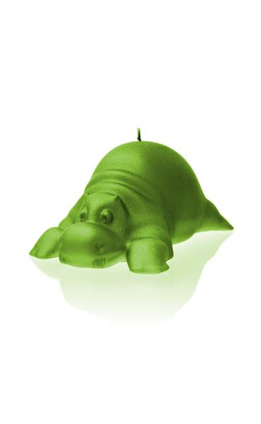 Świeca Candle Funny Hippo Lime