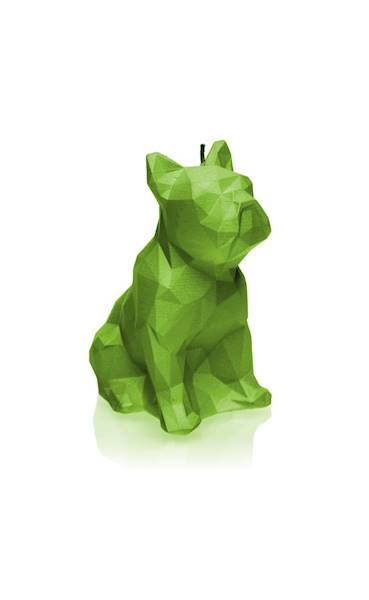 Świeca Candle Bulldog Low Poly Lime