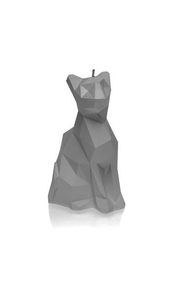 Świeca Candle Cat Low Poly Grey Matt