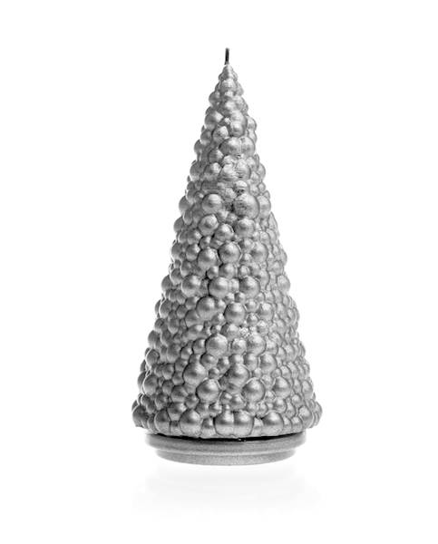 Świeca Candle Christmas Tree Silver