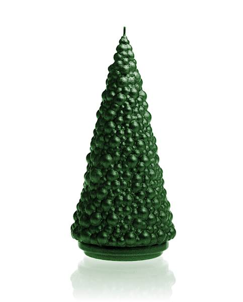 Świeca Candle Christmas Tree Green Metallic