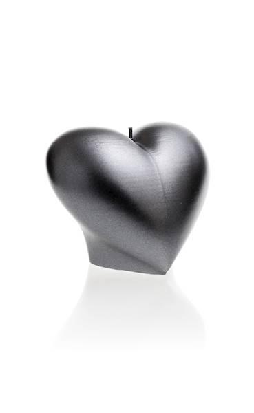 Świeca Candle Heart Smooth Steel