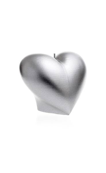 Świeca Candle Heart Smooth Silver