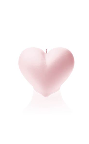 Świeca Candle Heart Smooth Light Pink