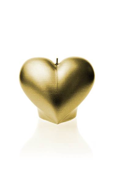 Świeca Candle Heart Smooth Classic Gold