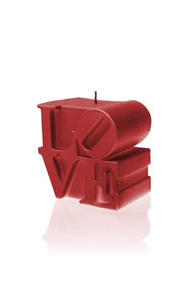 Świeca Candle Love Sign Red