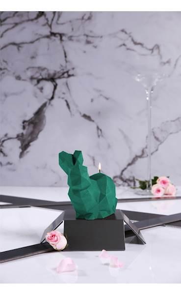 Świeca Candle Rabbit Big Turquoise