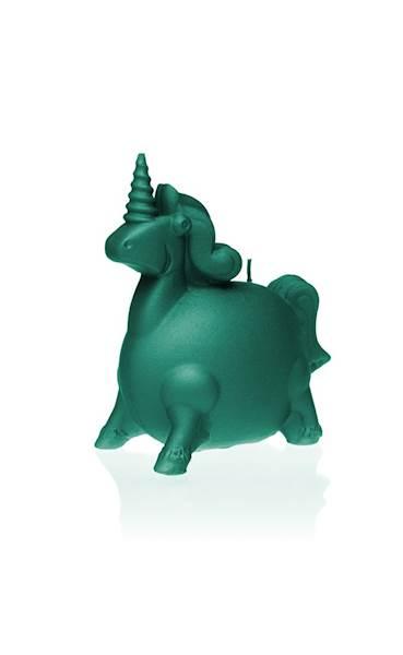 Świeca Candle Funny Unicorn Turquoise