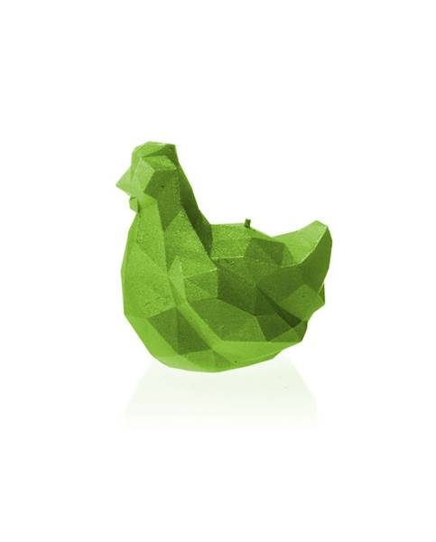 Świeca Candle Chicken Low Poly Small Lime