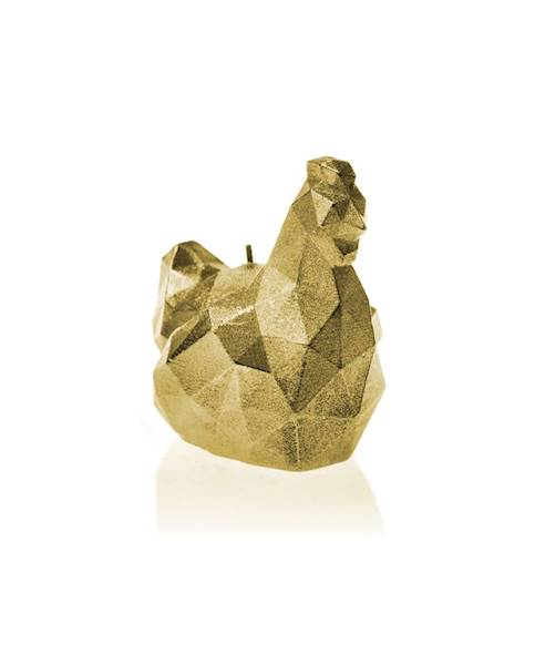Świeca Candle Chicken Low Poly Small Classic Gold