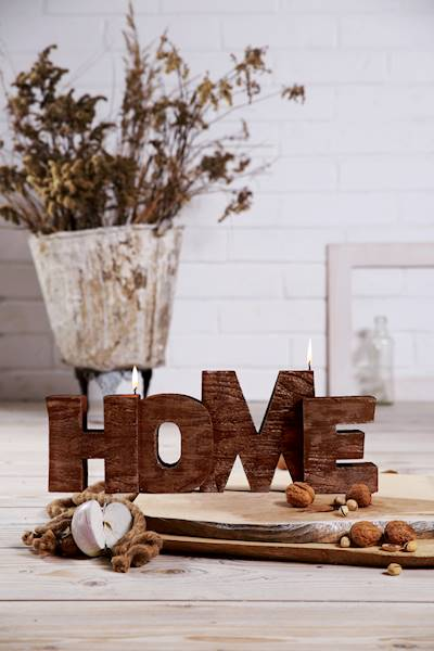 Świeca Candle Home Sign Classic Gold