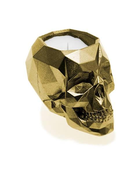 Świeca Candle Concrete Skull Classic Gold UWF