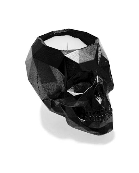 Świeca Candle Concrete Skull Black Metallic UWF