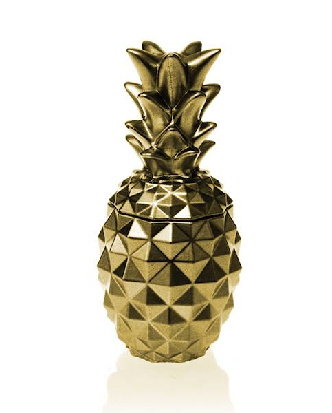 Świeca Candle Concrete Pineapple Classic Gold G