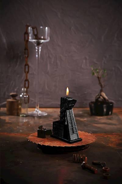 Świeca Candle Mining Shaft Black Metallic