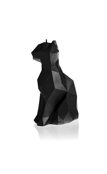 Świeca Candle Cat Low Poly Black Metallic