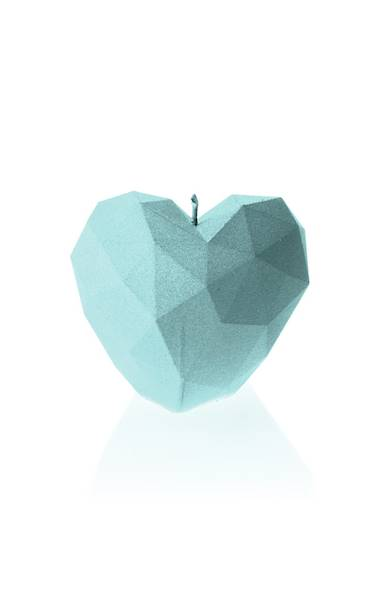 Świeca Candle Heart Low-Poly Mint