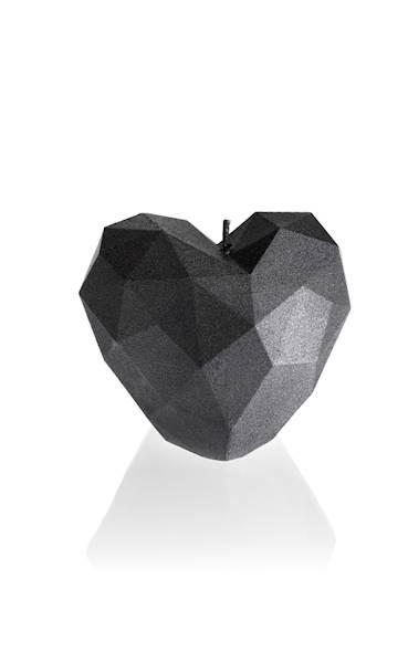 Świeca Candle Heart Low-Poly Steel
