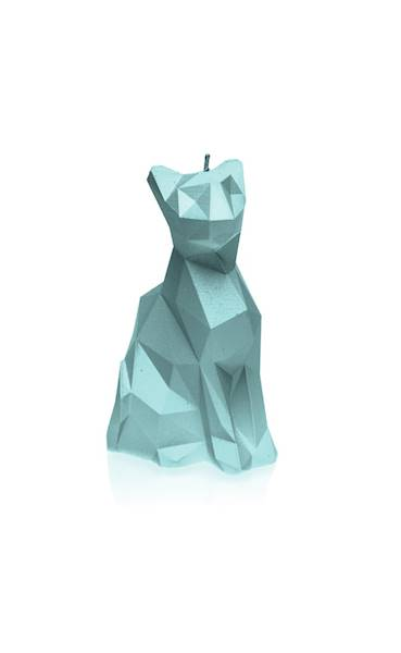Świeca Candle Cat Low Poly Mint