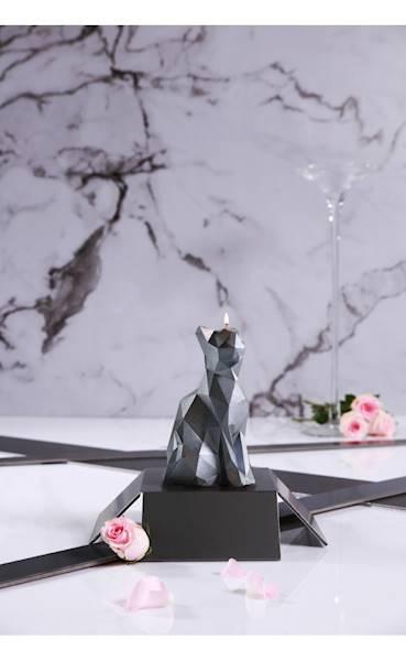 Świeca Candle Cat Low Poly Steel