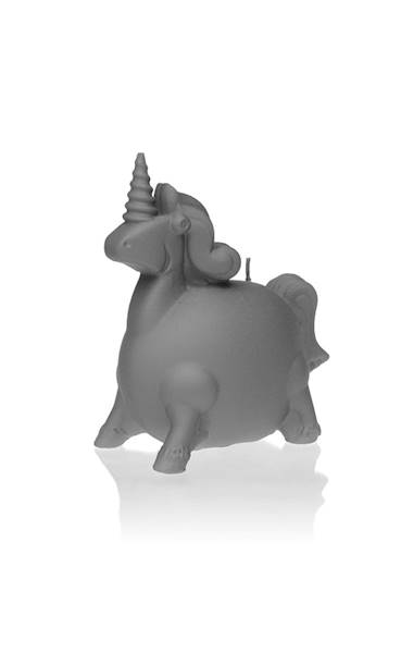 Świeca Candle Funny Unicorn Grey Matt