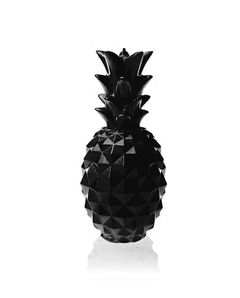 Świeca Candle Pineapple Medium Black Metallic