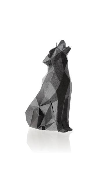 Świeca Candle Wolf Low Poly Steel