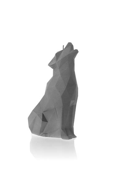 Świeca Candle Wolf Low Poly Grey Matt