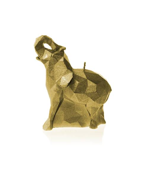 Świeca Candle Elephant Small Classic Gold
