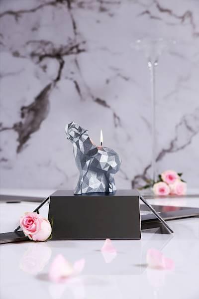 Świeca Candle Elephant Small Silver