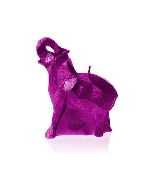 Świeca Candle Elephant Small Pink Metallic