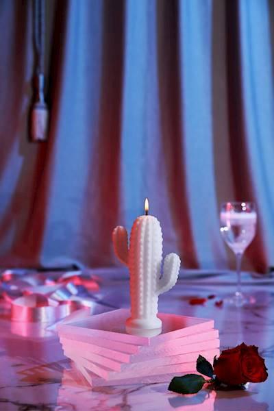 Świeca Candle Cactus Small White