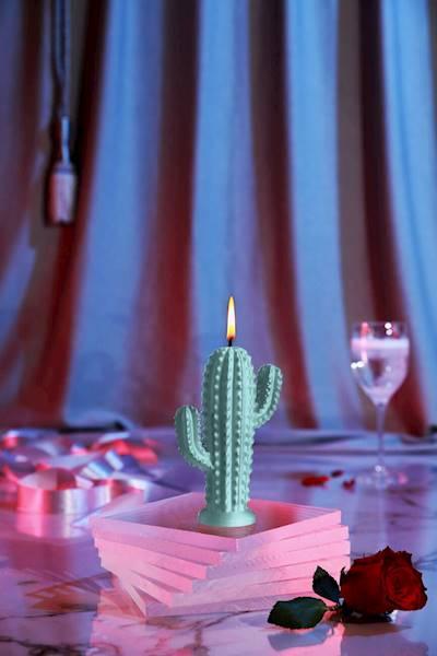 Świeca Candle Cactus Small Mint