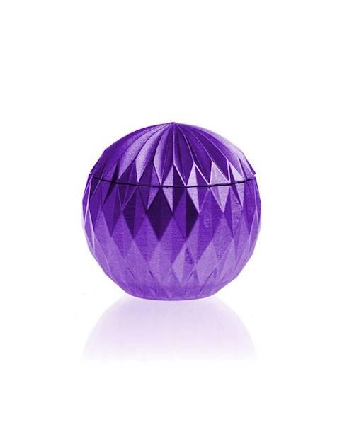 Świeca Candle Concrete Bauble Violet Metallic G