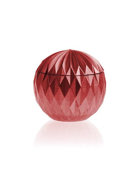 Świeca Candle Concrete Bauble Red Metallic G