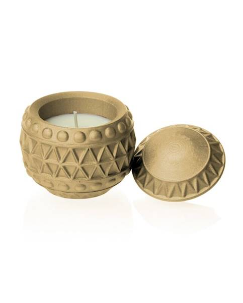 Świeca Candle Concrete Chr Bauble Latte U