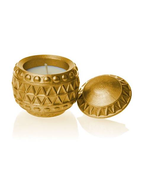 Świeca Candle Concrete Chr Bauble Gold U
