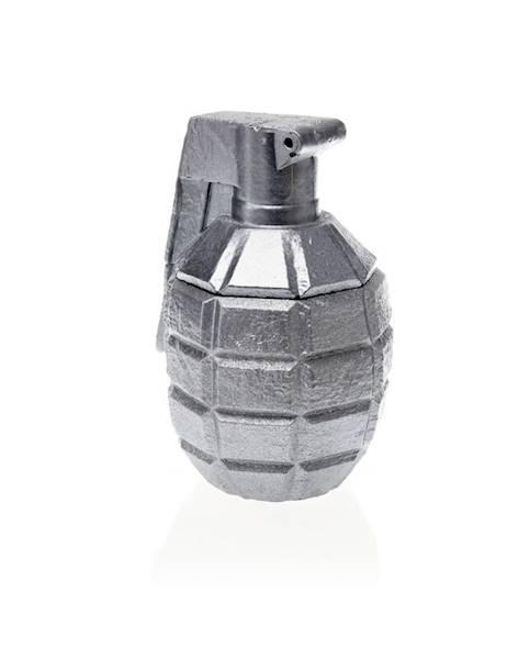 Świeca Candle Concrete Grenade Silver L