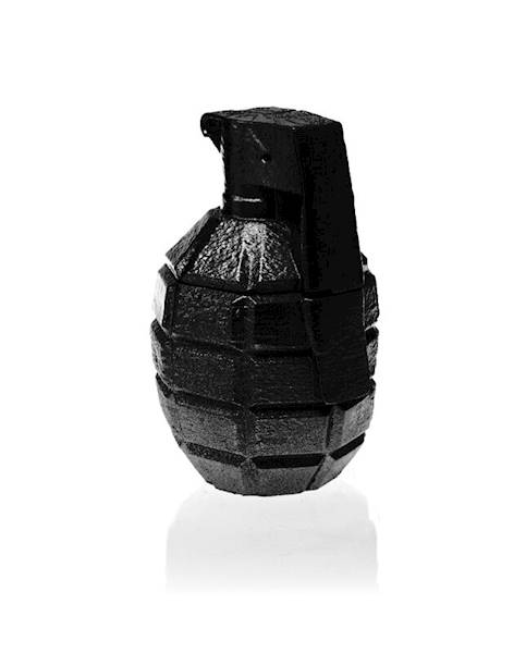 Świeca Candle Concrete Grenade Black Metallic L