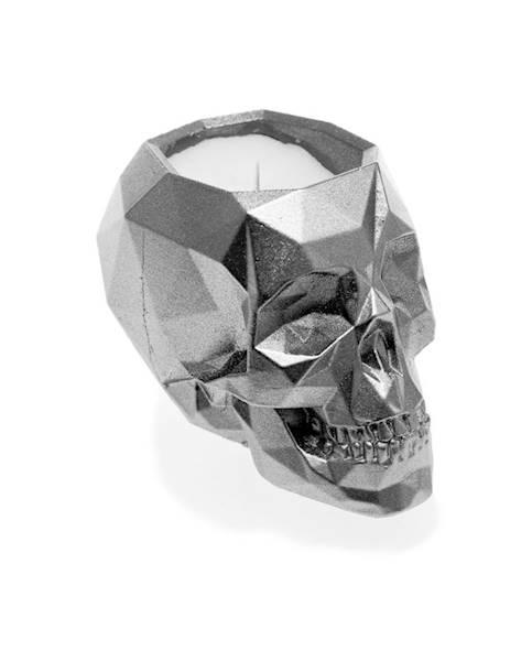 Świeca Candle Concrete Skull Silver W