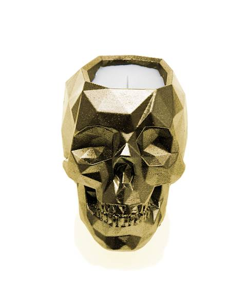 Świeca Candle Concrete Skull Classic Gold W