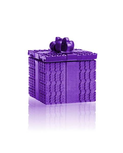 Świeca Candle Concrete Gift Violet Metallic U