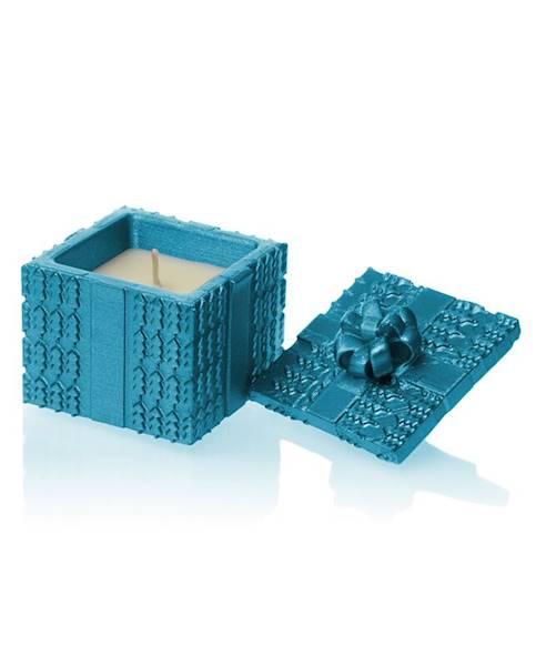Świeca Candle Concrete Gift Blue Metallic G