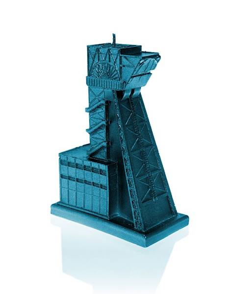 Świeca Candle Mining Shaft Blue Metallic