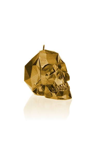 Świeca Candle Skull Small Gold