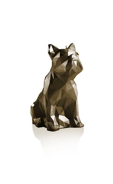 Świeca Candle Bulldog Low Poly Brass