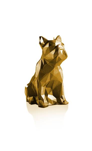 Świeca Candle Bulldog Low Poly Gold