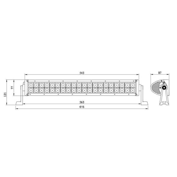 DIODA-PANEL LED 40xLED 630mm LB0004