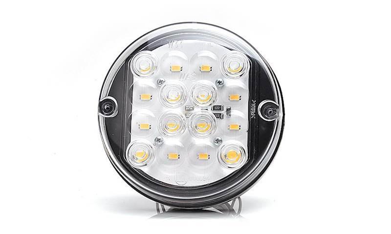 172 -  W33 12V lampa cofania okrągła