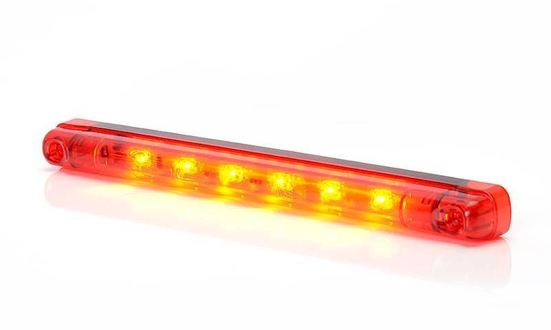 682    W87 lamp.stop klosz czerwony cieńka długa